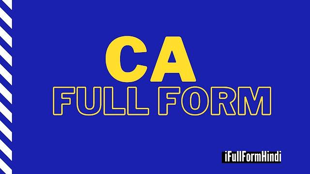 Full Form of CA