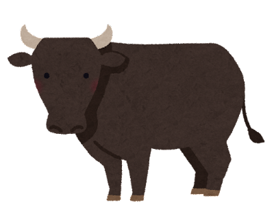 肉牛のイラスト
