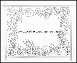 Top 5 latest pattern of jall concepts saree design drawing and sketch for embroidery and machine embroidery design.