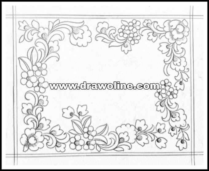 Jaal saree design/pencil sketch for banarasi jaal saree images/how to draw all over jall saree design patterns