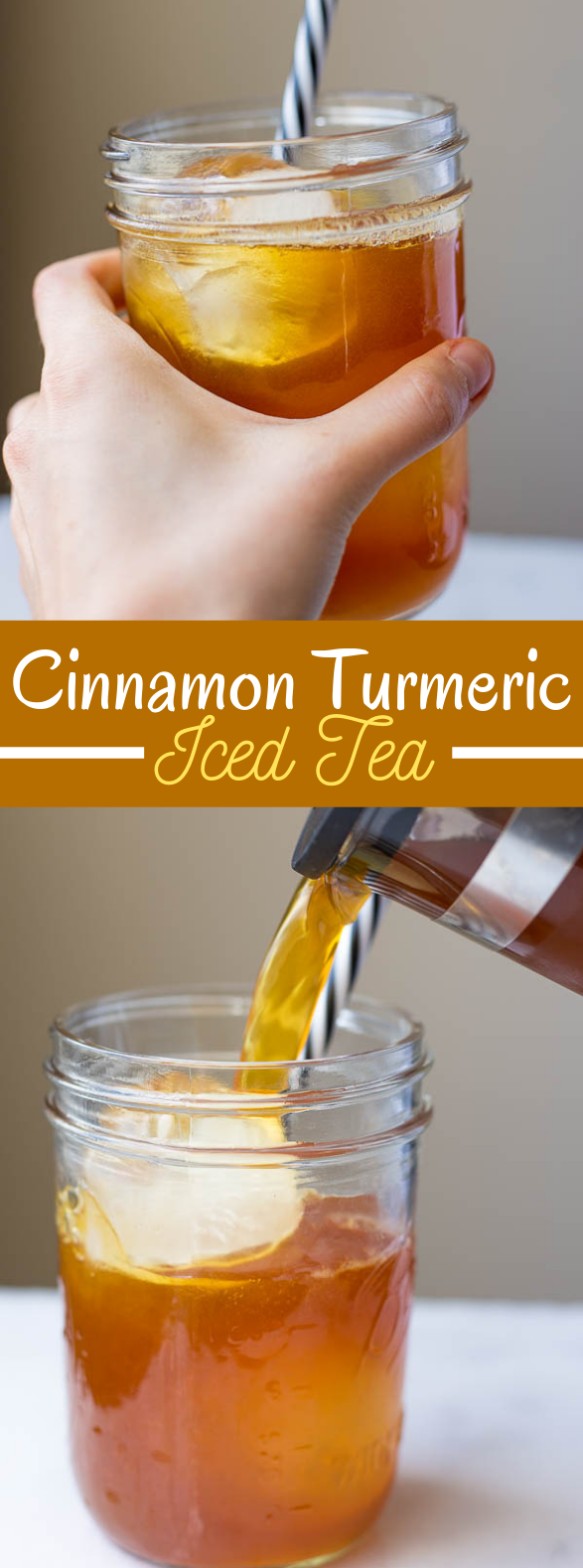 cinnamon turmeric iced tea (aka. golden iced tea) #drinks #healthydrink