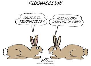 fibonacci, matematica, conigli, umorismo, vignetta