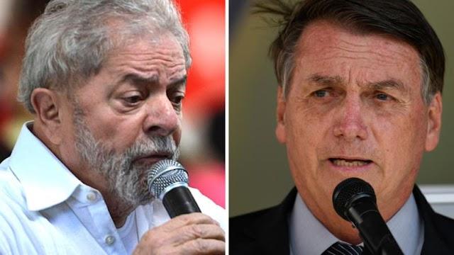 Lula tem 41,3% das intenções de voto e Bolsonaro, 26,6%, diz pesquisa da CNT