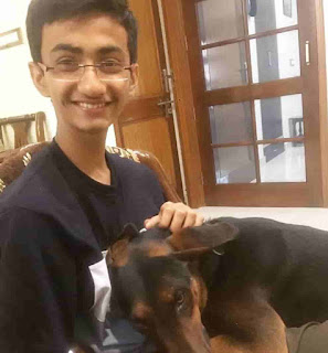Suryansh Patani With His Dog