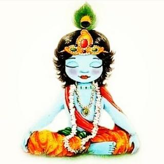 Lord Bal Krishna doing Meditation