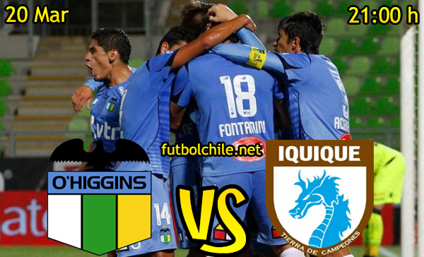 Ver stream hd youtube facebook movil android ios iphone table ipad windows mac linux resultado en vivo, online: O'Higgins vs Deportes Iquique,