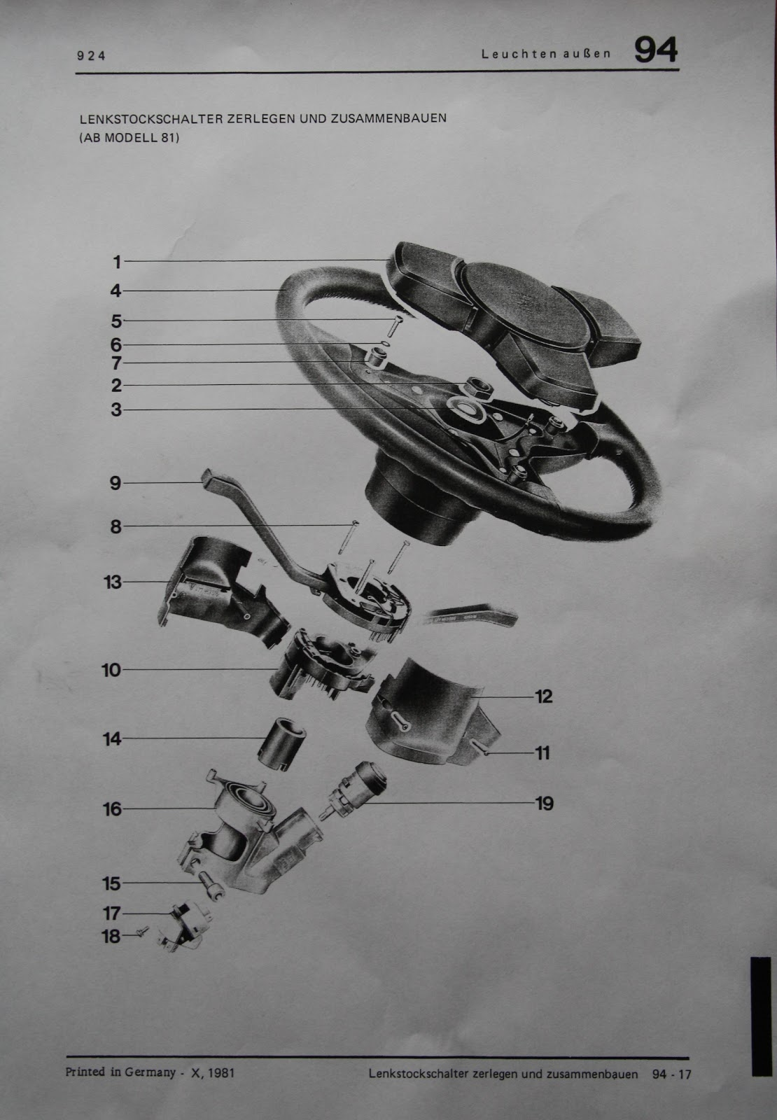 Er Diagram Many To How A Sentence Worksheet Porsche 924: Changing 924s Ignition Switch