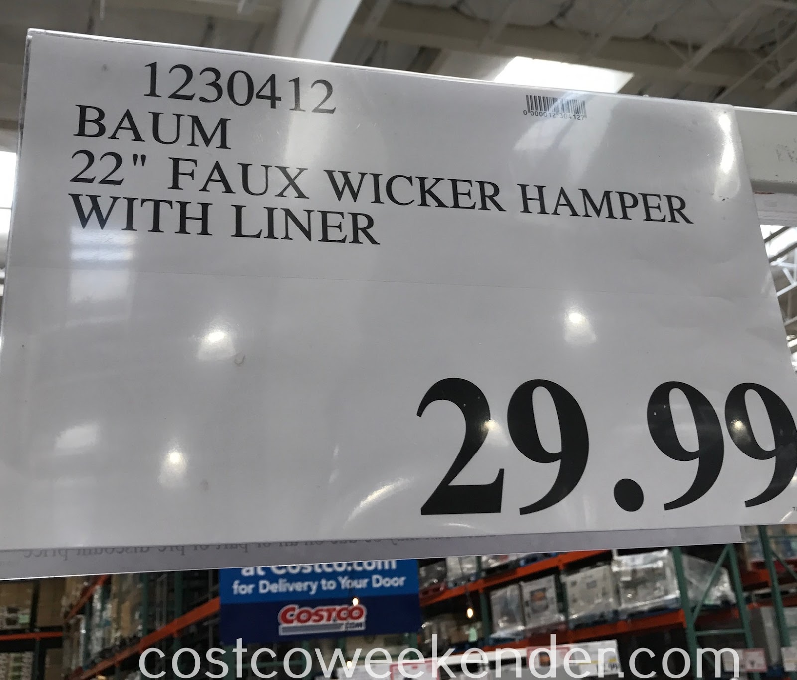 Deal for the Baum Faux Wicker Hamper with Liner at Costco