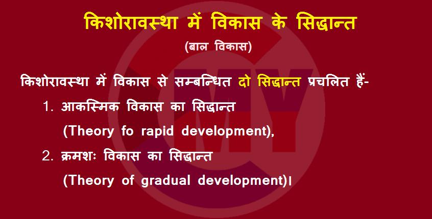 Kishoravastha Me Vikas Ke Siddhant