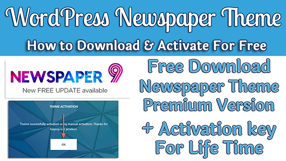 WordPress Newspaper 9 Theme Premium Version Free Download & LifeTime Activation Key For Free