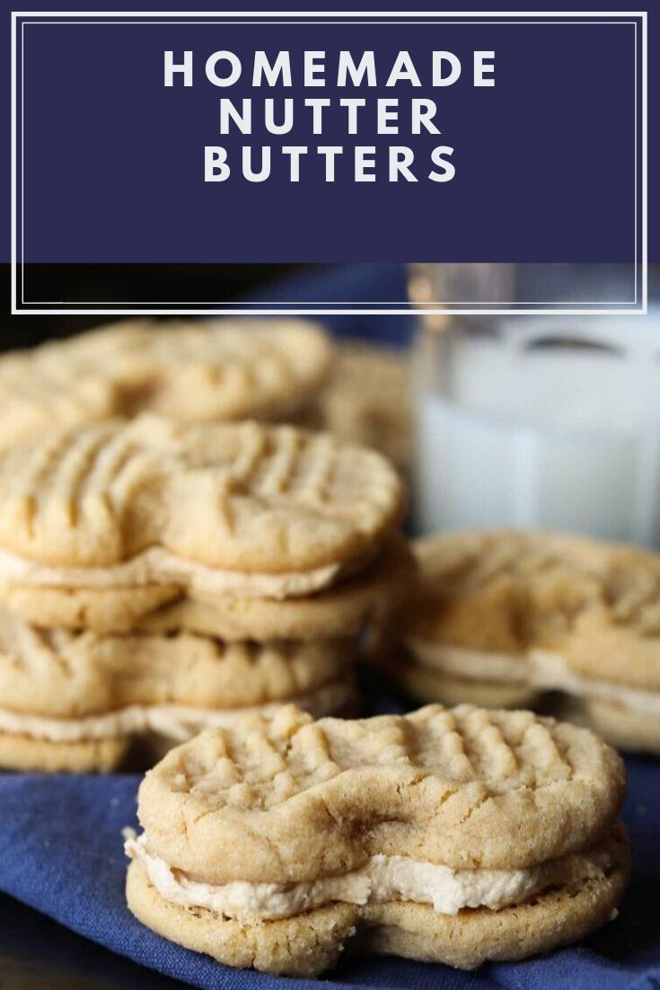 Homemade Nutter Butters #Dessert #Easyrecipe