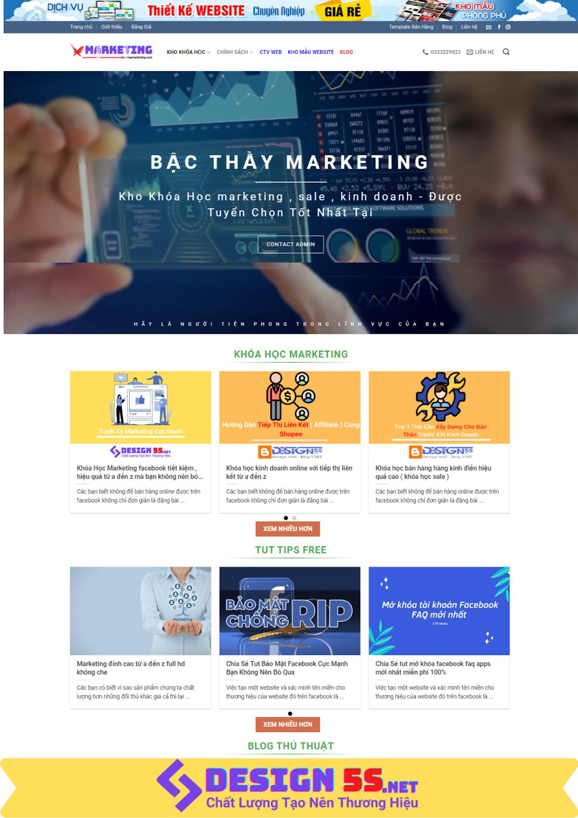 Mẫu website bán khóa học online chuyên nghiệp, hiện đại - Ảnh 1