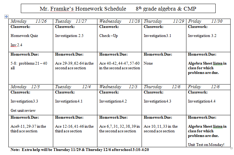 8th grade algebra 1 homework help