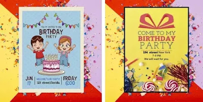 Aplikasi untuk membuat kartu undangan ulang tahun terbaik di Android-4