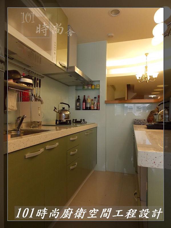 @廚具 開放式廚房設計一 字型+中島櫃(吧檯)設計-作品分享--永和福和路李公館-廚房翻修&衛浴設計&造型天花板 ...