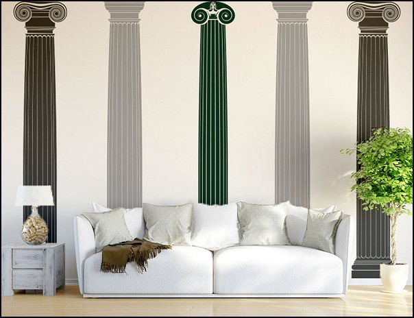 Columns or Pillars Wall Decal Sticker greek mythology bedrooms roman bedrooms heavenly angels bedrooms