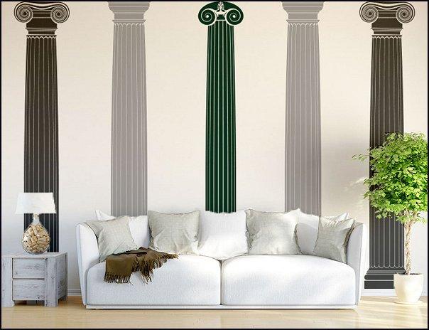 Columns or Pillars Wall Decal Sticker greek mythology bedrooms roman bedrooms heavenly angels bedrooms