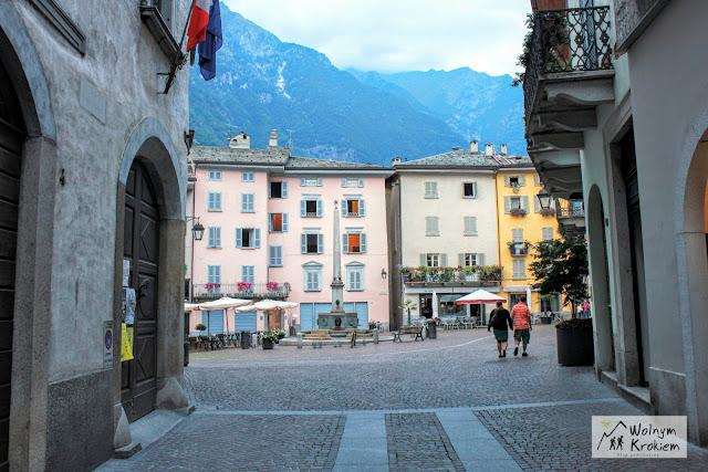 Chiavenna Włochy alpy