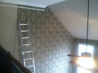 Residential: Foyer and Living Room,wallpaper for walls