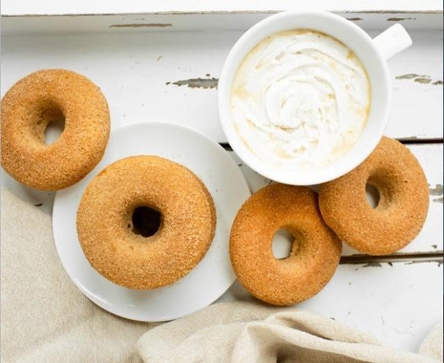 Vegan Sugar Cinnamon Donuts #vegan #dessert