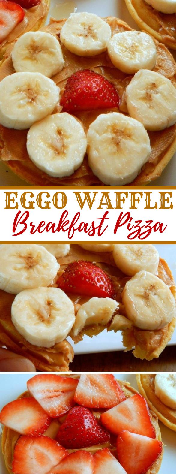 Eggo Waffle Breakfast Pizza #healthy #diet