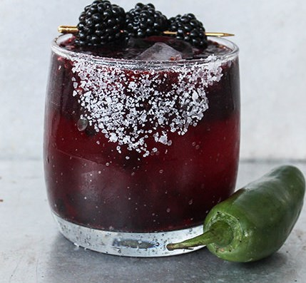 Spicy Blackberry Margarita #drink #recipes
