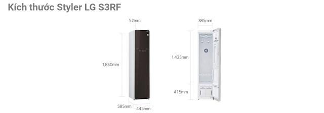 Kích thước Styler LG S3RF