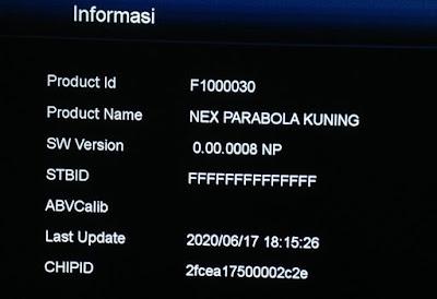 Info STB ID Error Nex Parabola