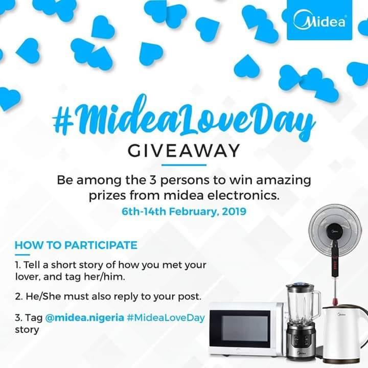 MIDEA NIGERIA, #MideaLoveDay Giveaway !!!
