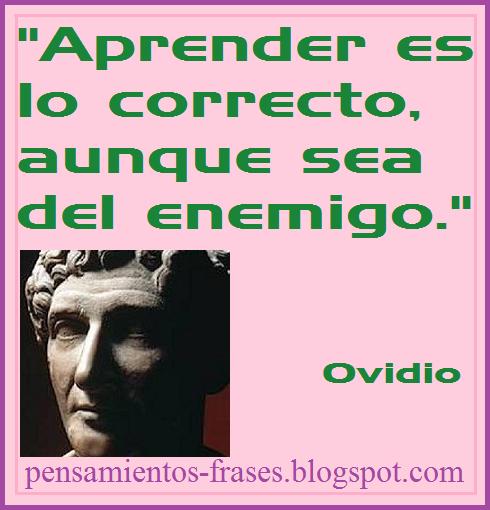 Frases Célebres Aprender Ovidio