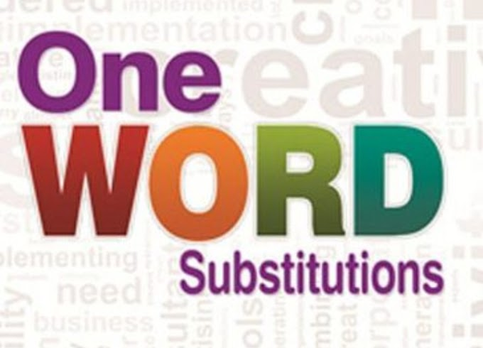 One word substitutes in English special gov.exam