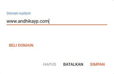 ganti domain di blogger