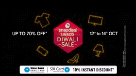 (Live) SnapDeal Unbox Diwali Sale - Get Huge Discounts Upto 70% (12th - 14th Oct)