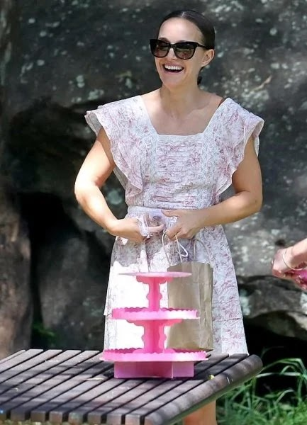 Natalie Portman puts the minimum amount of makeup on for her daughter's birthday