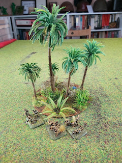 Jungle terrain and Japanese figures for scale