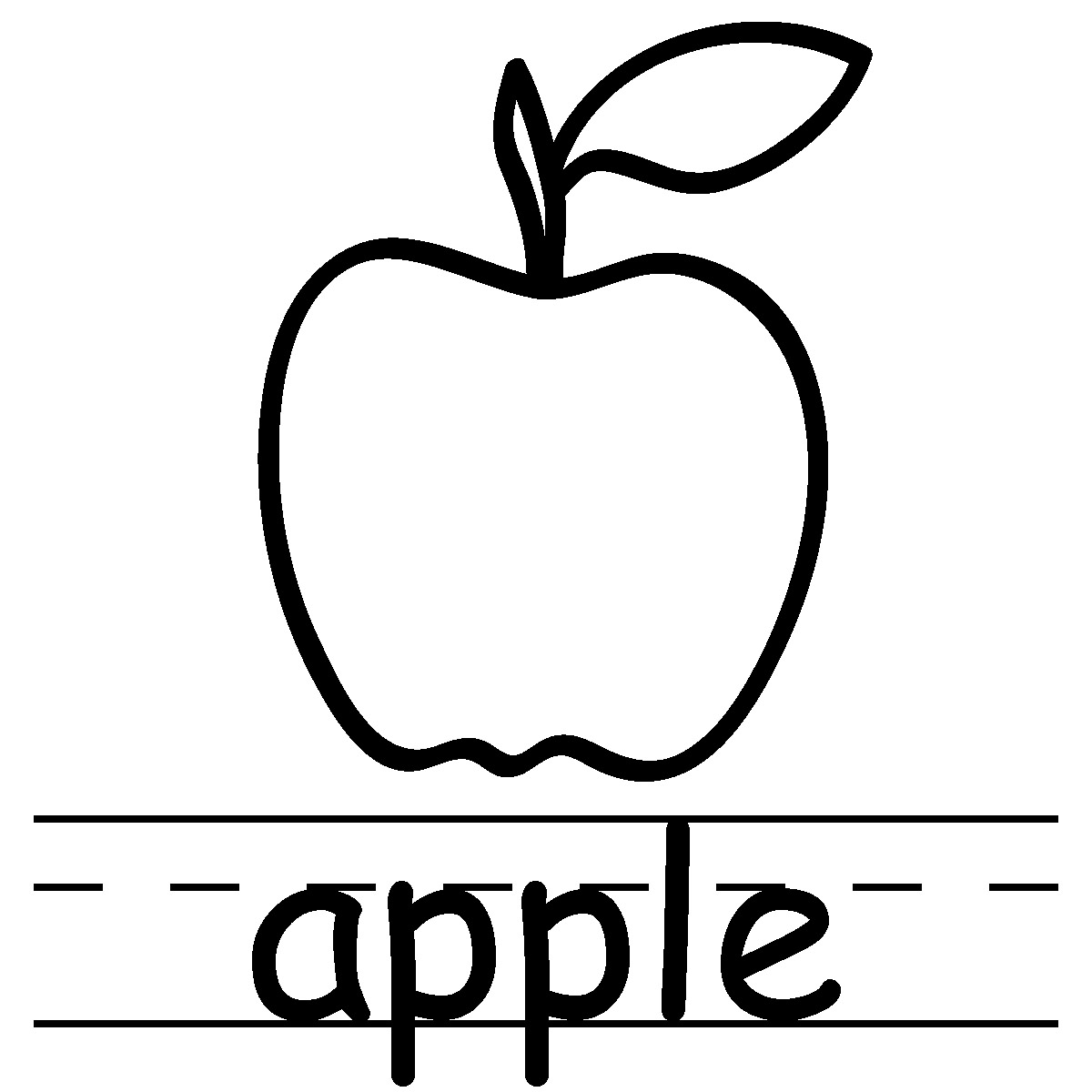 Apple Tree Coloring Pages Preschoolers