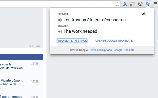 google çeviri chrome uzantısı