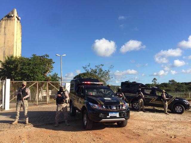 Com uso de helicóptero, SEAP reforça segurança no Complexo de Alcaçuz no RN; veja vídeo