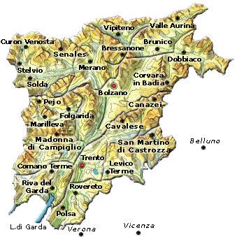 Cartina Del Trentino Alto Adige.Cartina Muta Del Trentino Alto Adige