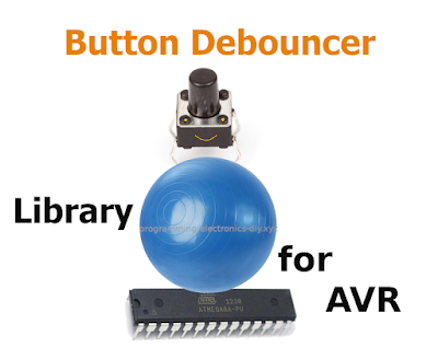 Button debouncing library for AVR microcontrollers