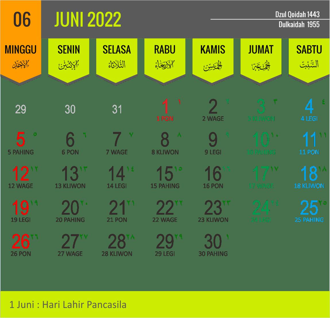 Download Desain Kalender 2022 Lengkap Cdr Jawa Hijriah Masehi