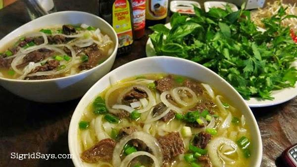 pho bo - Bacolod restaurants - Vietnamese cuisine - Rau Ram Vietnamese Cafe - Saigon Cafe Bacolod