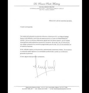 Luis Miguel comunicado