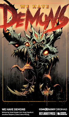 ComiXology and Scott Snyder's Best Jacket We Have Demons Cover