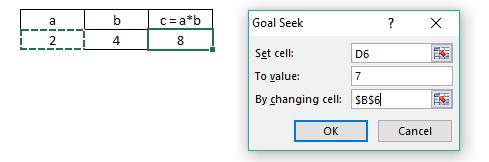 Formula Goal Seek Excel