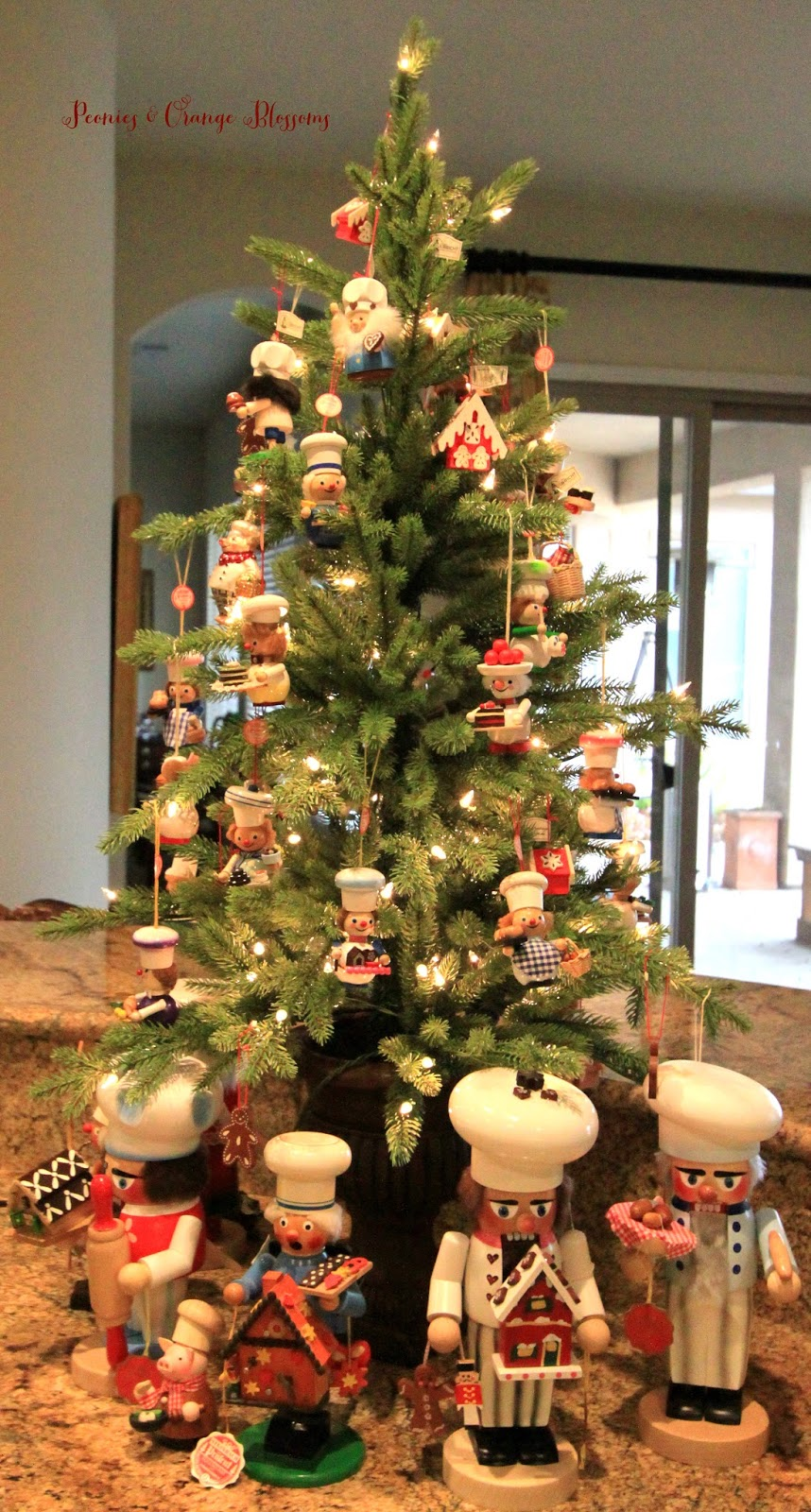 Kitchen Christmas Tree With Chef Ornaments