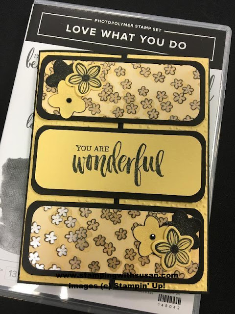 Stampin' Up! Love What You Do Share What You Love Falling Flowers May Flowers Framelits