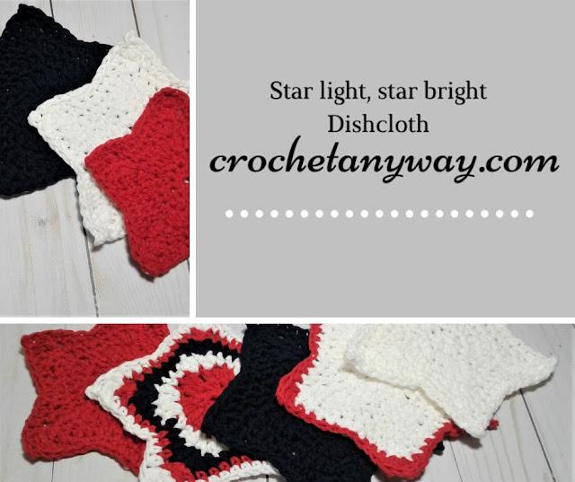 crochet star dishcloth