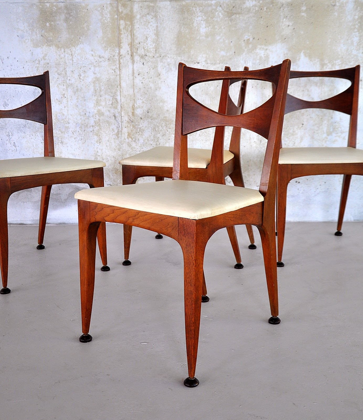 Select Modern Set Of John Van Koert Dining Chairs