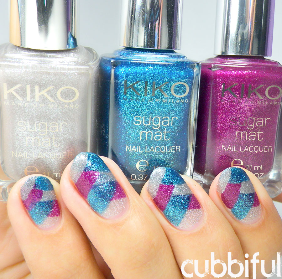 swatch kiko sugar mat polishes